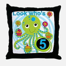 OCTOPUSfive Throw Pillow
