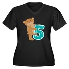 bearfiveyr Women's Plus Size Dark V-Neck T-Shirt