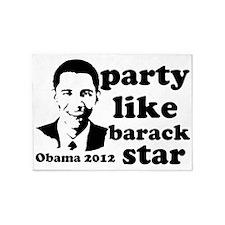 partylikebarackstar2012 5'x7'Area Rug