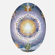 Universal Yoga Mandala Oval Ornament
