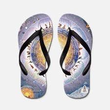 Universal Yoga Mandala Flip Flops