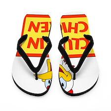 Cluckin Chicken Flip Flops