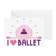 iloveballetFINAL300rgb Greeting Card
