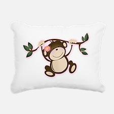 Monkey Play Girl Monkeys Rectangular Canvas Pillow