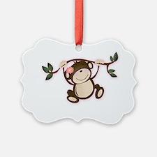 Monkey Play Girl Monkeys Ornament