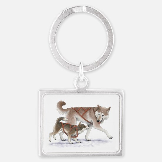 fathers_day_card2 Landscape Keychain