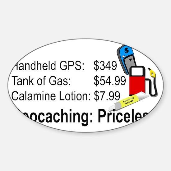 Geocaching Priceless Sticker (Oval)