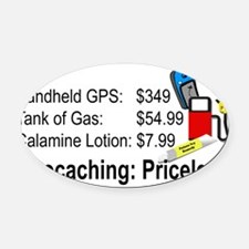 Geocaching Priceless Oval Car Magnet