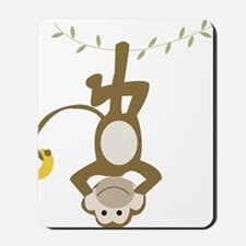 Monkey Around hanging Upside down Mousepad