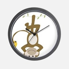 Monkey Around hanging Upside down Wall Clock