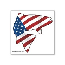 "flag trout 1 Square Sticker 3"" x 3"""