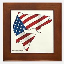 flag trout 1 Framed Tile
