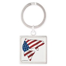 flag trout 1 Square Keychain