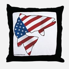 flag trout 1 Throw Pillow