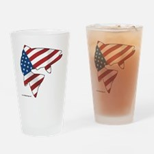 flag trout 1 Drinking Glass