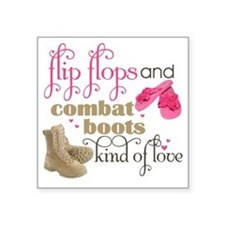 "flip flops Square Sticker 3"" x 3"""