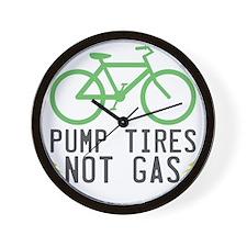 Pump-Tires-1 Wall Clock