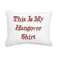 Hangover Shirt red  Rectangular Canvas Pillow