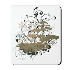 Bonsai Tree - Green on Dark Mousepad