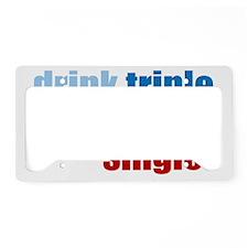 drinktriplewh License Plate Holder