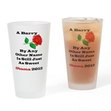 A Barry Drinking Glass
