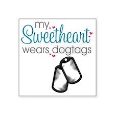 "sweetheart1 Square Sticker 3"" x 3"""