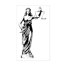 Lady Justice Decal