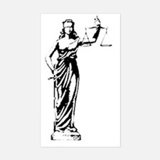 Lady Justice Sticker (Rectangle)