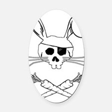 bunnypirate Oval Car Magnet