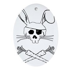 bunnypirate Oval Ornament
