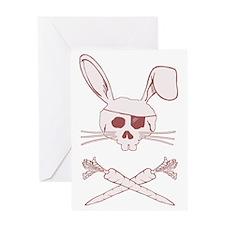 bunnypiratepink Greeting Card