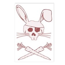 bunnypiratepink Postcards (Package of 8)