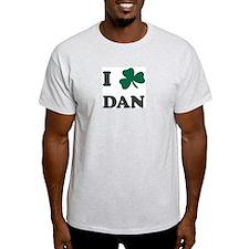 I Shamrock DAN Ash Grey T-Shirt