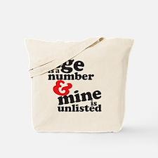 agenumber Tote Bag