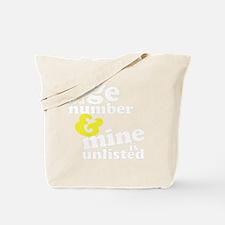 agenumberdrk Tote Bag