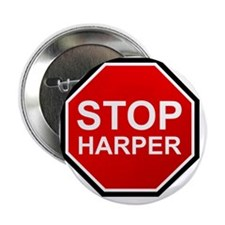 "STOP HARPER 2.25"" Button"