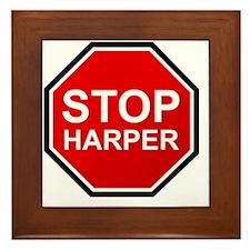 STOP HARPER Framed Tile