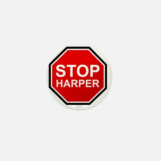 STOP HARPER Mini Button