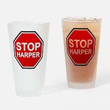 STOP HARPER Drinking Glass