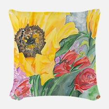 Courtneys Sunflower Woven Throw Pillow