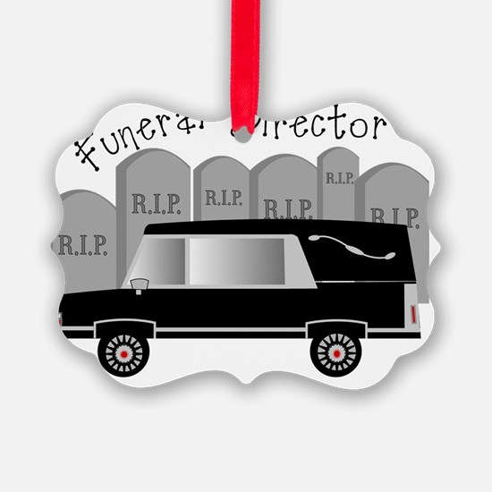 Funeral Director Hearse RIP Ornament