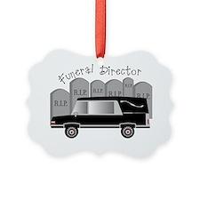 Funeral Director Hearse RIP Ornament