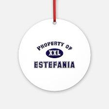 Property of estefania Ornament (Round)