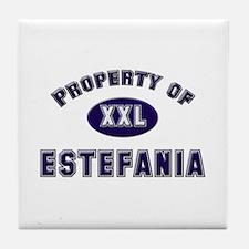 Property of estefania Tile Coaster