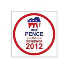 """2012_mike_pence_main Square Sticker 3"""" x 3"""""""