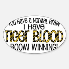 tiger_blood_june_02 Sticker (Oval)
