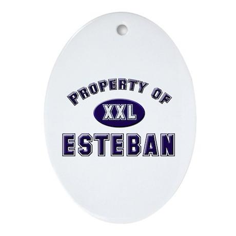 Property of esteban Oval Ornament