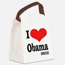I Love Obama4x4 Canvas Lunch Bag