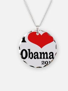 I Love Obama4x4 Necklace Circle Charm