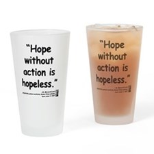 Lown Hope Quote Drinking Glass